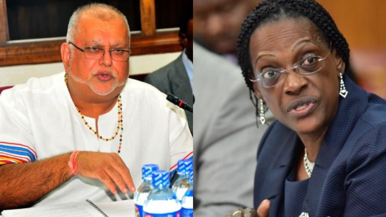 City Businessman, Sudhir Ruperalia has revealed that embattled former Bank of Uganda, Ms Justine Bagyenda forced the defunct Crane Bank to buy NBC (PML Daily PHOTO MONTAGE)