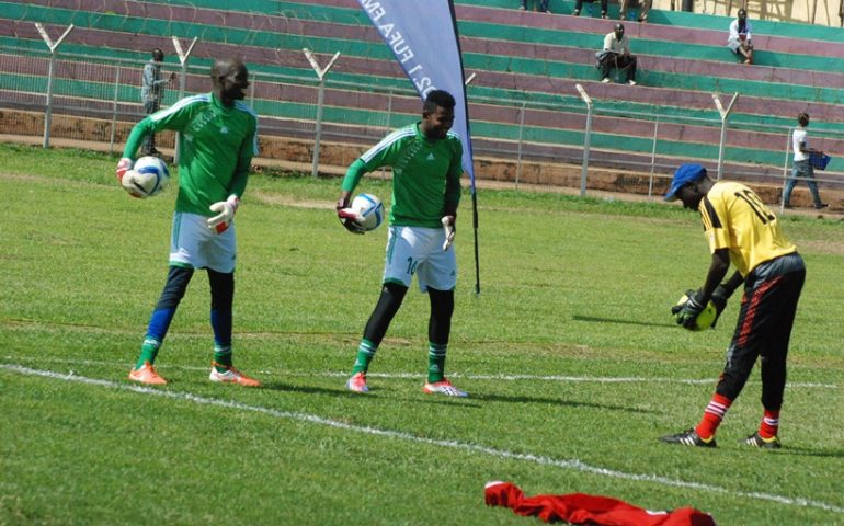 Wassa (right) with the National team recently (Agency Photo)