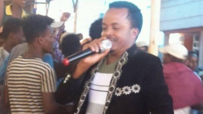 Ethiopian singer Dadhi Gelan