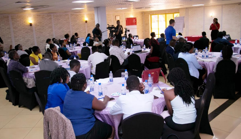 Millennials from different work places attending the summit that was held at Hotel Africana ( Photo Mutalyebwa Abraham)