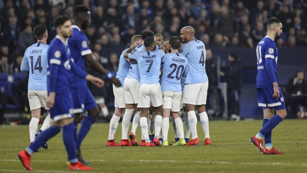 City defeated Schalke 3-2 in the first leg (Agency Photos)