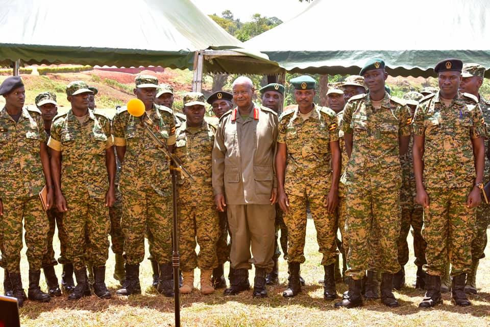 - President Yoweri Museveni who is also the Commander