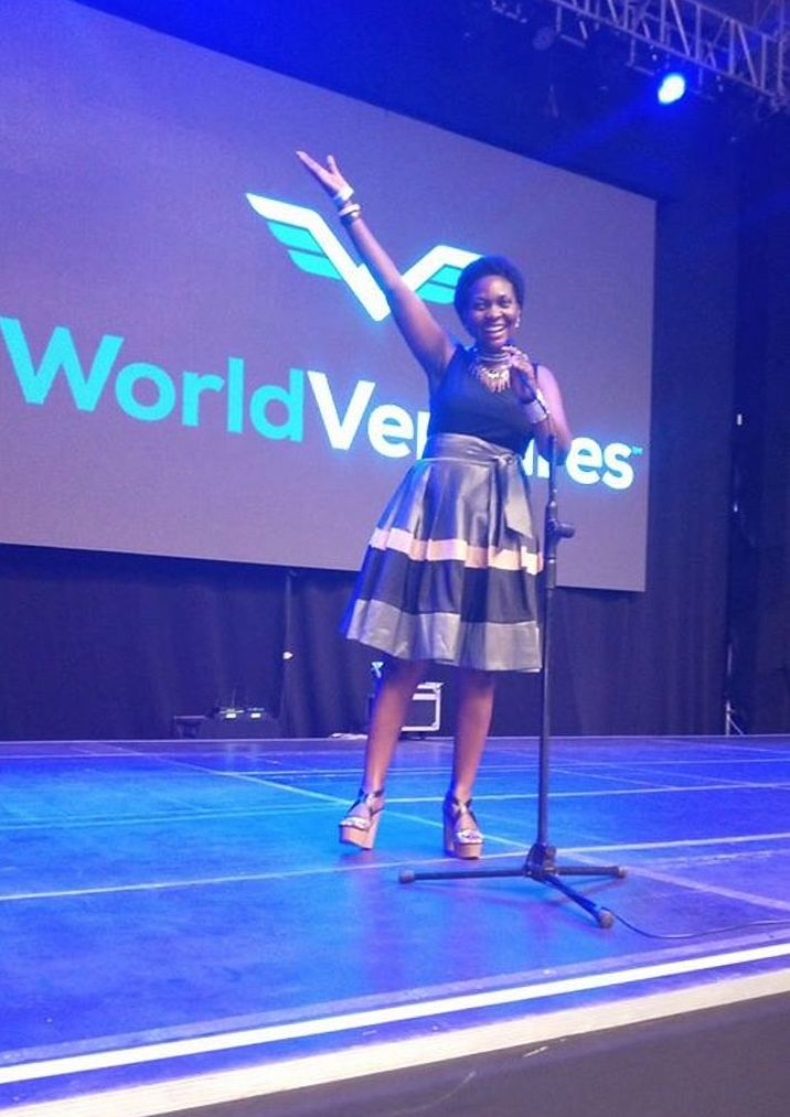 A member of WorldVentures enjoys a light moment at one of the session in Kampala. South Africa authorities are set to investigate the firm citing fraud (FILE PHOTO)