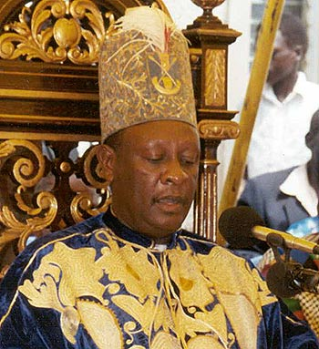 The Omukama of Bunyoro kingdom Solomon Gafabusa Iguru has been dragged to court by over the kingdom's failure to pay Ugx.79M for seedlings upplied (FILE PHOTO)