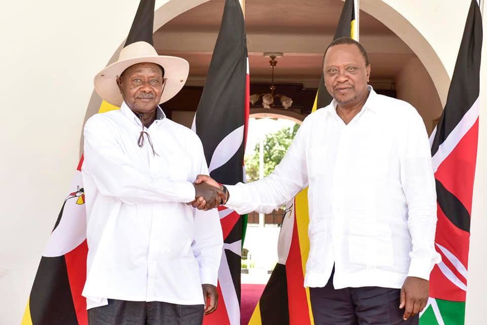 President Museveni and his Kenyan counterpart, Uhuru Kenyatta are set  sign bilateral deals that are set to benefits traders. (PHOTO/File)