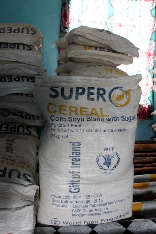 In March 2019, World Food Programme (WFP) suspended the distribution of  a fortified food, Super Cereal, in Karamoja amid food poisoning claims (WFP PHOTO)