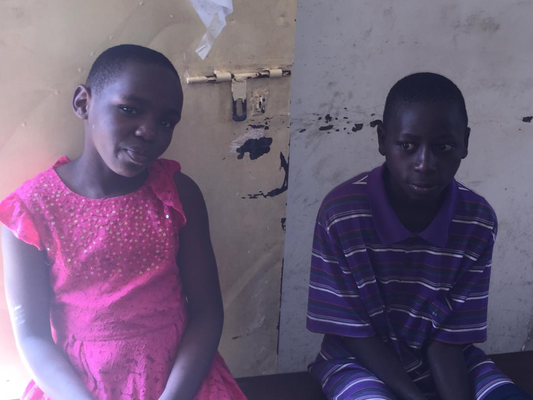 Some of the kids stranded at police in Mukono