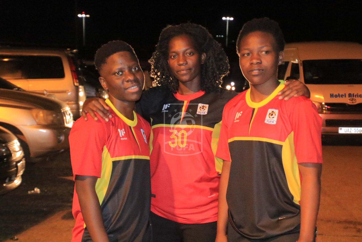 Nabweteme (left) and Nakayenza (right) arrived on Thursday night (FUFA Photo)