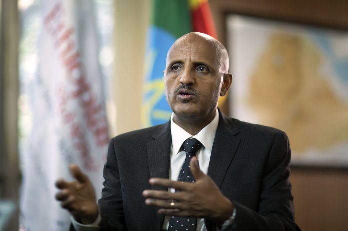Tewolde Gebremariam, Chief Executive Officer of Ethiopian Airlines, speaks to The Associated Press at Bole International Airport in Addis Ababa, Ethiopia Saturday, March 23, 2019. (COURTSEY PHOTO)