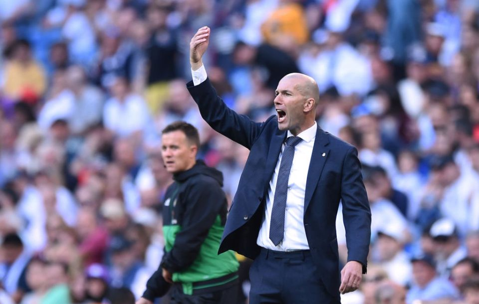 Zidane made a winning return to the Bernabue (Agency Photo)
