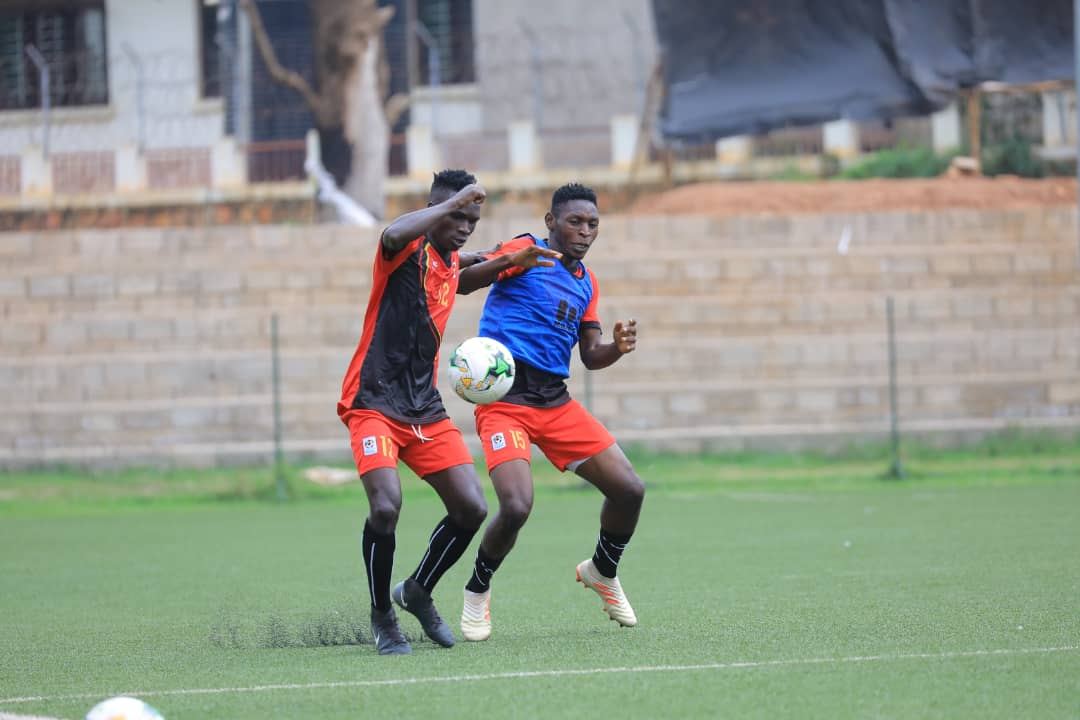 Some of te Cranes players in training on Monday (Photos by Don Mugabi)