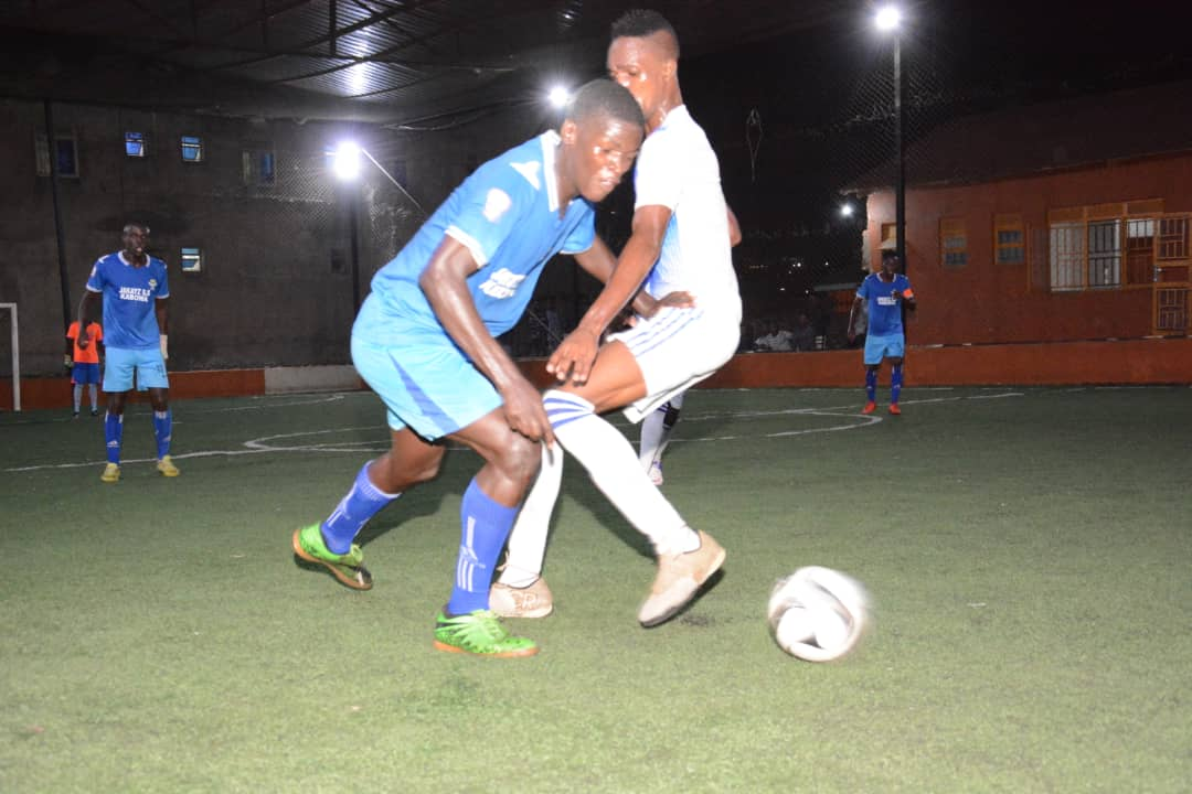 Muyingo (right) scored one of Dream's goals in the 3-3 draw with Yeak on Thursday (Photos by Futsal Media)