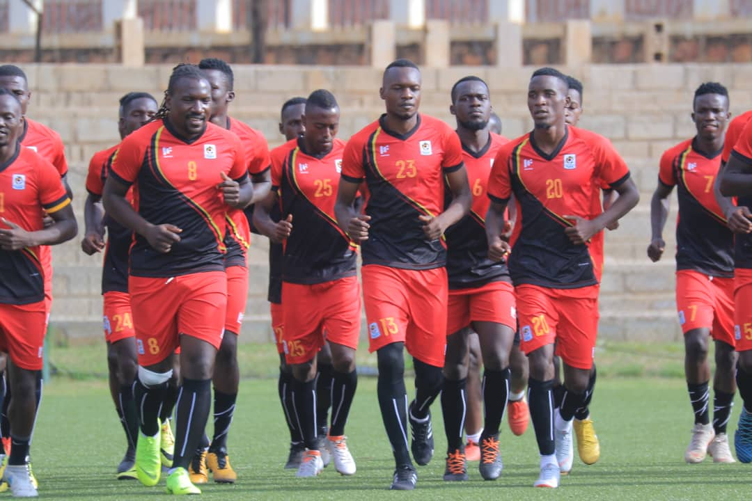 Cranes players going through the morning session on Wednesday (Photos by FUFA Media)