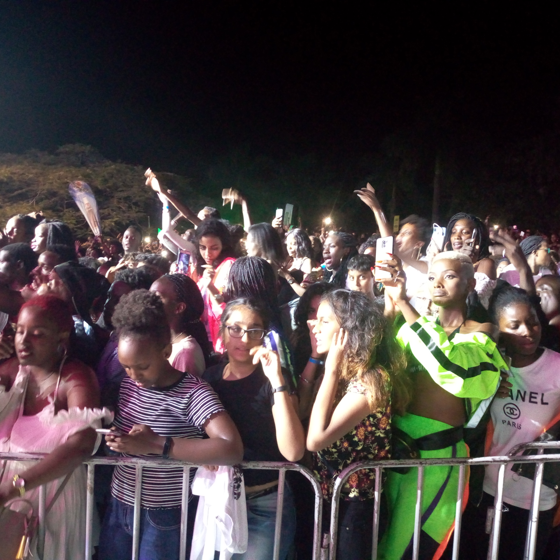 The Revellers enjoying the great performance at the show while others were capturing videos to share with their friends (FILE PHOTO)
