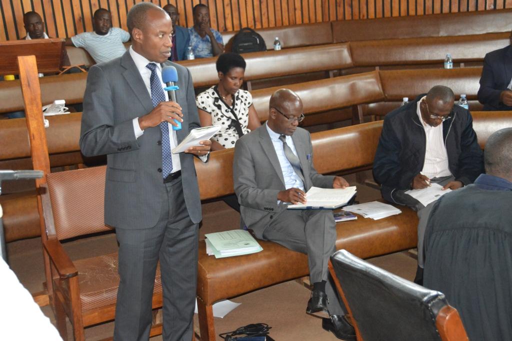 LCV chairperson Capt JohnBosco Bamuturaki speaking in council