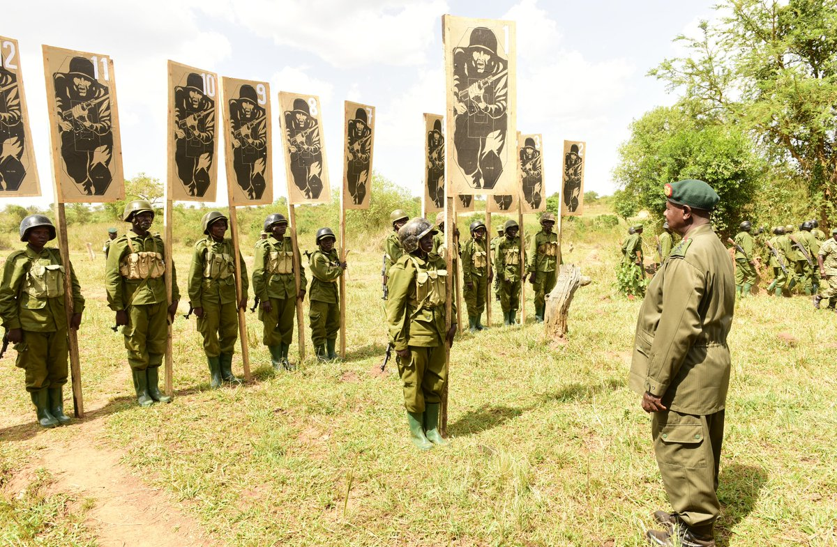 Museveni officiates passing out of the LDU recently. (PHOTO/PPU)