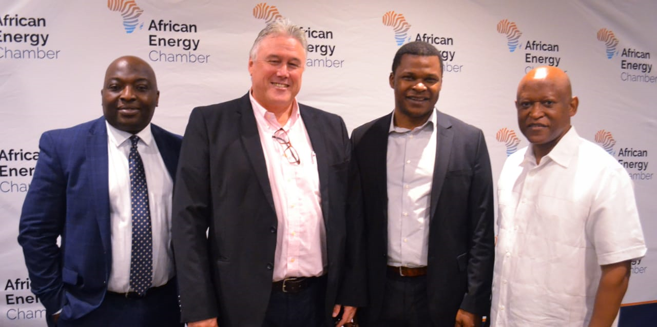 From: AEC's Vice President verner Ayukegba, Naill Kramer, the CEO of South African Gas Alliance (SAOGA), Centurion Law Group CEO and AEC Executive Chairman NJ Ayuk and Mthozami Xiphu, SAOGA Board Chairman