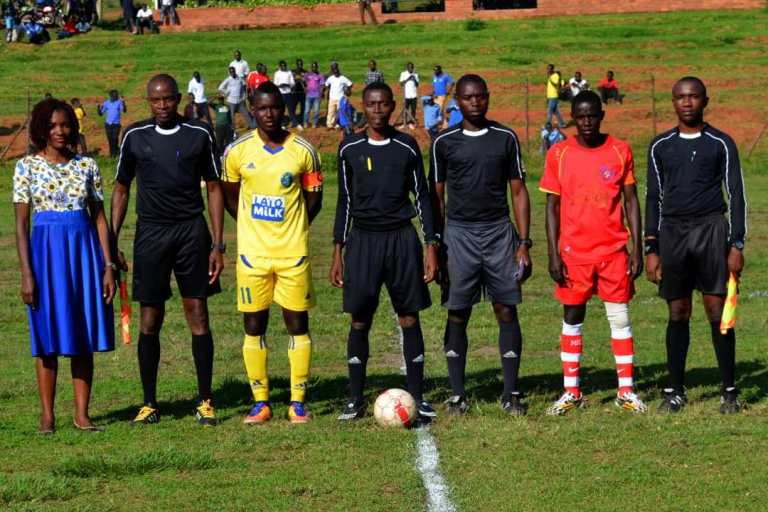 Robert Donney (standing with the ball) will handle Ankole at home against Sebei at Kyamate in Ntugamo on Sunday (Agency Photo)