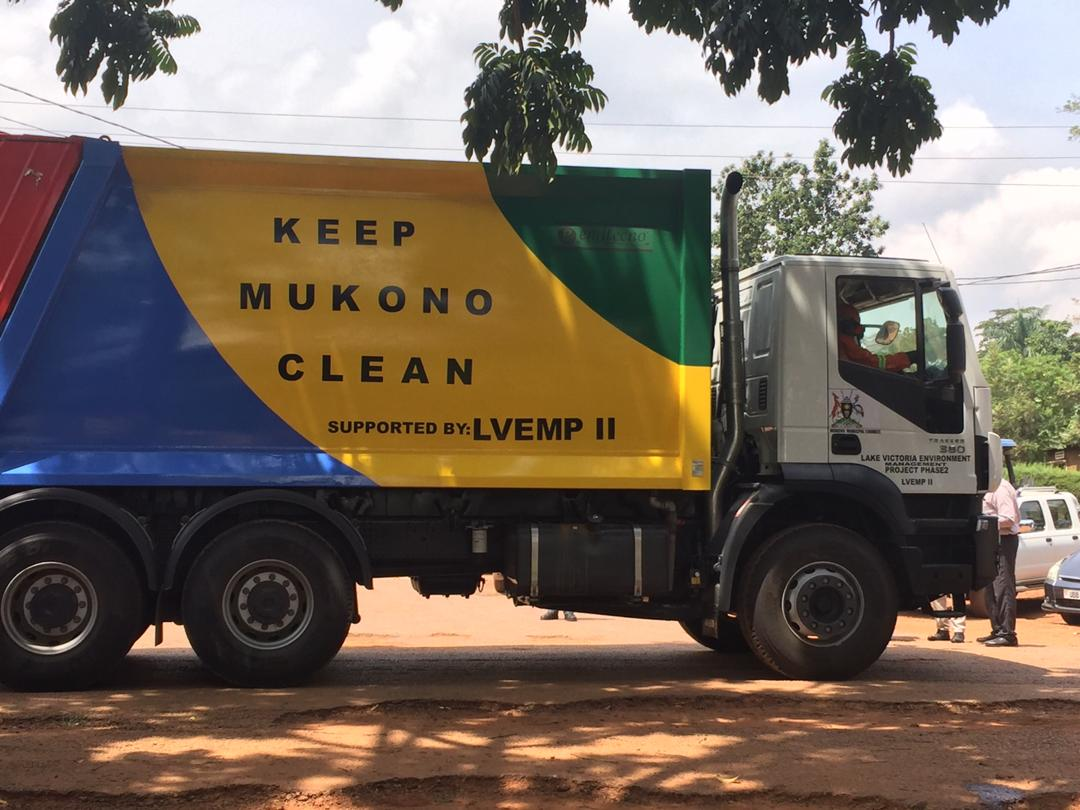 Mukono garbage truck donated by Lake Victoria Environment Management Project phase II