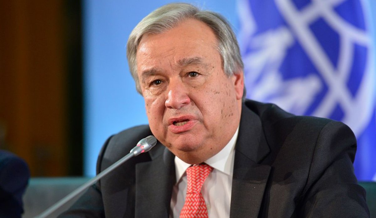 Antonio Guterres, High Commissioner for Refugees of UNHCR, attends a press conference in german foreign office  on November 04, 2015 in Berlin, Germany. (Photo by Michael Gottschalk/Photothek via Getty Images)