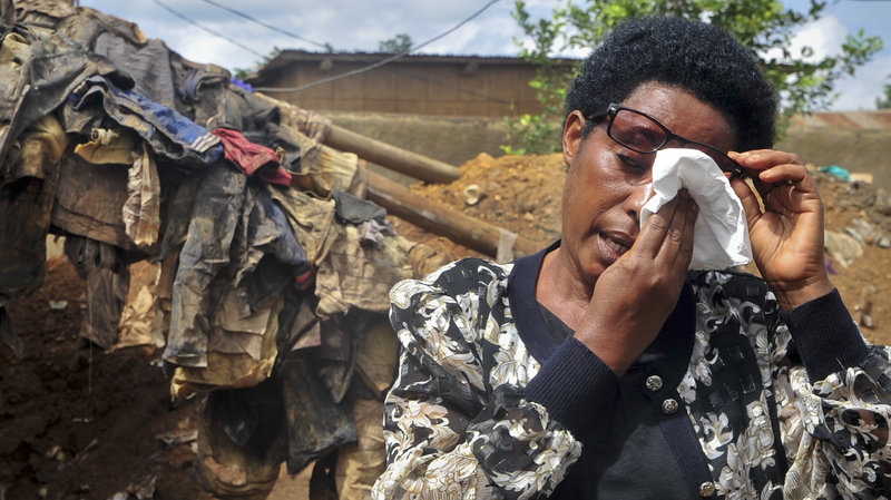 A Rwandan national weeps after mass graves are iscovered 24 years After Rwandan Genocide (AGENCIES PHOTO)