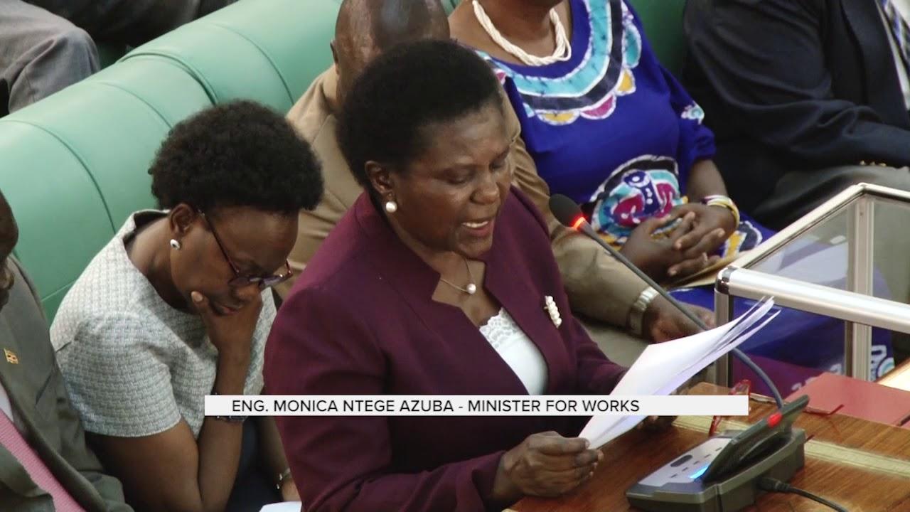 Minister of Works Monicah Azuba