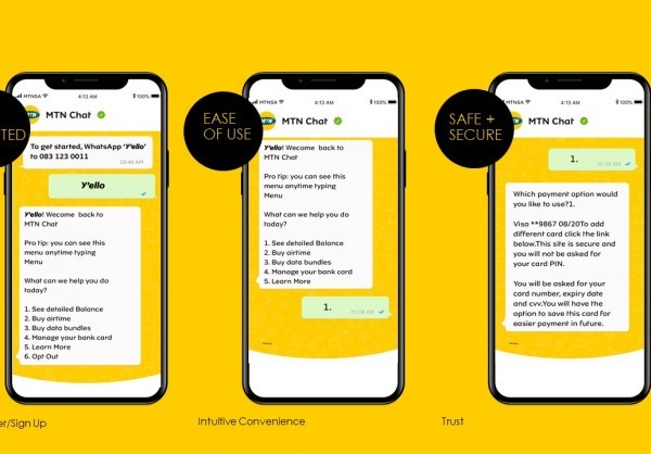 MTN Chat will enable customers to initiate purchase of airtime and data bundles within their WhatsApp chat session.