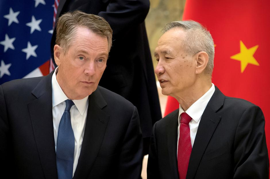 More talks. Mr. Robert Lighthizer and Mr. Liu He have already met several times in the past months trying to iron out a trade deal between the two giant economies. (AFP PHOTO)