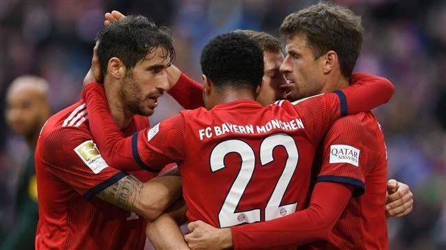 Bayern currentlt top the Bundesliga on goal difference