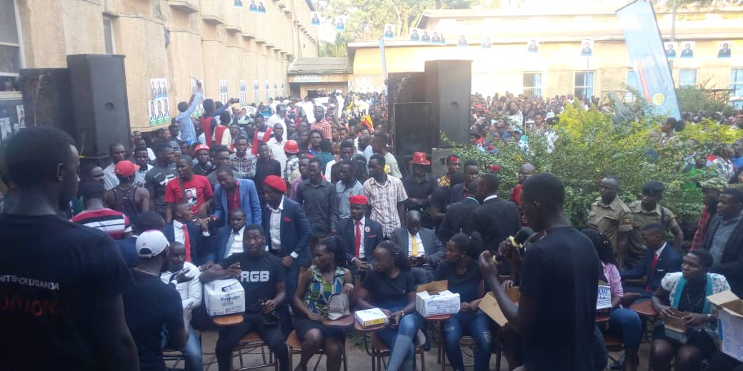 Makerere University students in guild campaigns on Friday. (PHOTO/Tracy Nayiga)