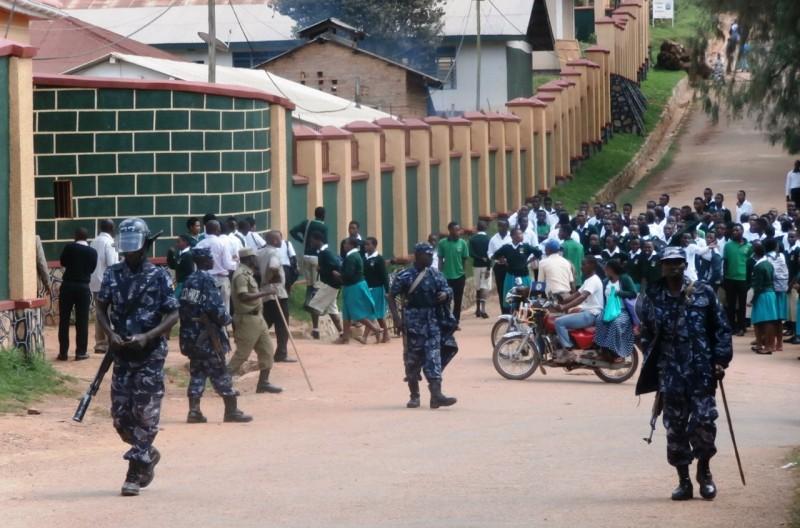 Police at Kigezi High School