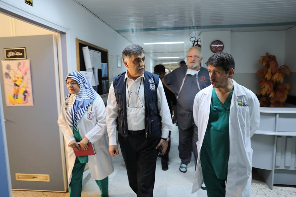 DR Jaffar Hussain, Head of WHO country office of Libya visited #Tajoura Cardiac Clinic