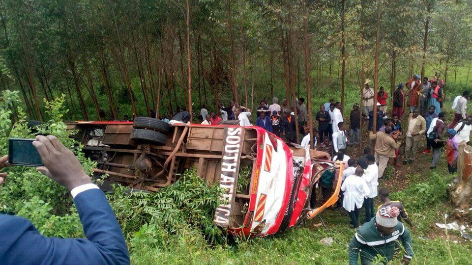 An accident involved a Swift Safaris Bus along the Ishaka-Mbarara Highway. (COURTESY PHOTO)