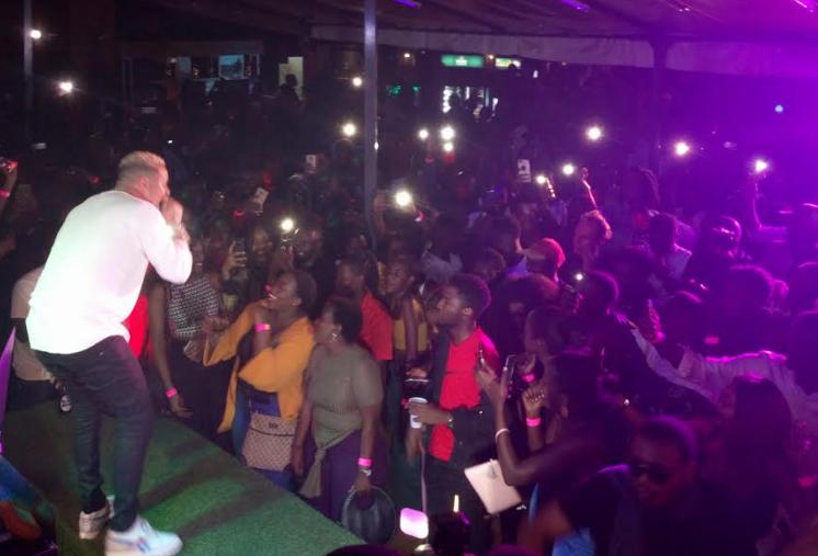AKA performing live on stage at Cayenne Bar and Restaurant in Bukoto, Kampala, Uganda. (PHOTO/FILE)