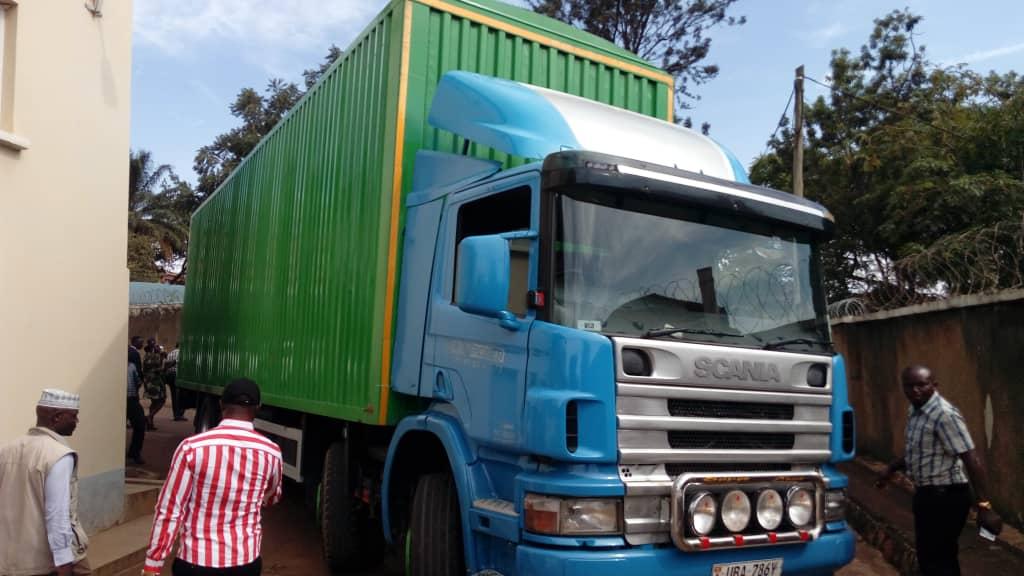 One of the trucks intercepted with the drugs (NDA PHOTO)
