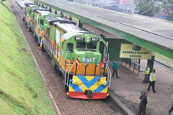 A Rift Valley Railways train wagon at the Kampala station