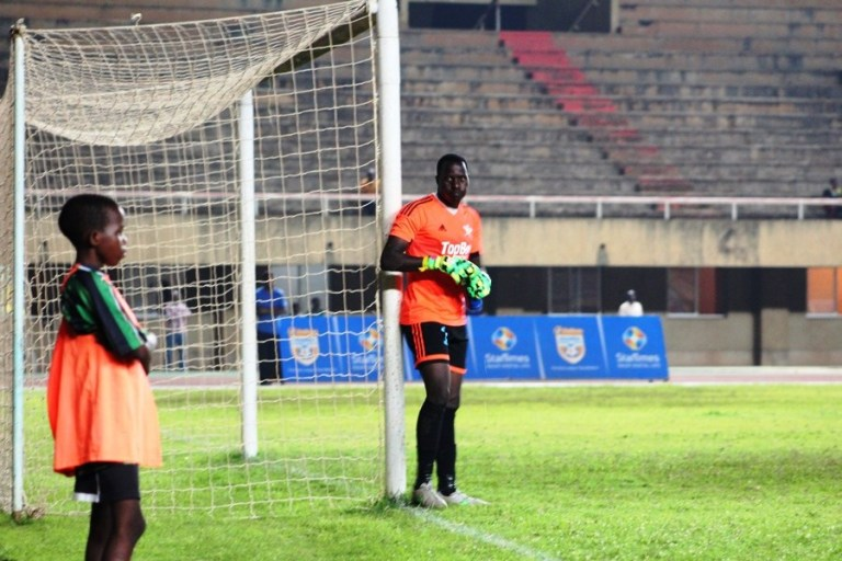 Muwanga leans of the goal post after gifting Villa with a second goal (Agency Photos)