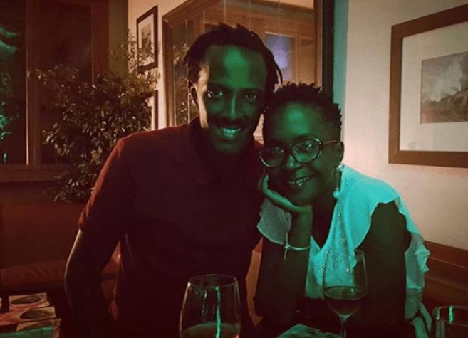 Ms. Kansiime and boyfriend Skylanta