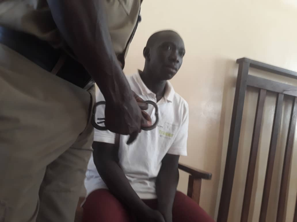 akindye grade two magistrate John Okipi has charged and remanded Ronald Obangakene, a private security guard who confessed to murdering Dr. Catherine Agaba from International Hospital Kampala (IHK) (COURTESY PHOTO)