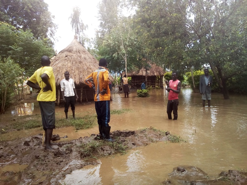 Families affected by the flooded River Malaba ponder the next move after their houses were submerged, crops destroyed. Photo by Joseph Omollo