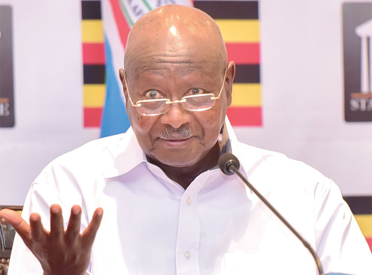 President Yoweri Kaguta Museveni shares insight into recent events (FILE PHOTO)