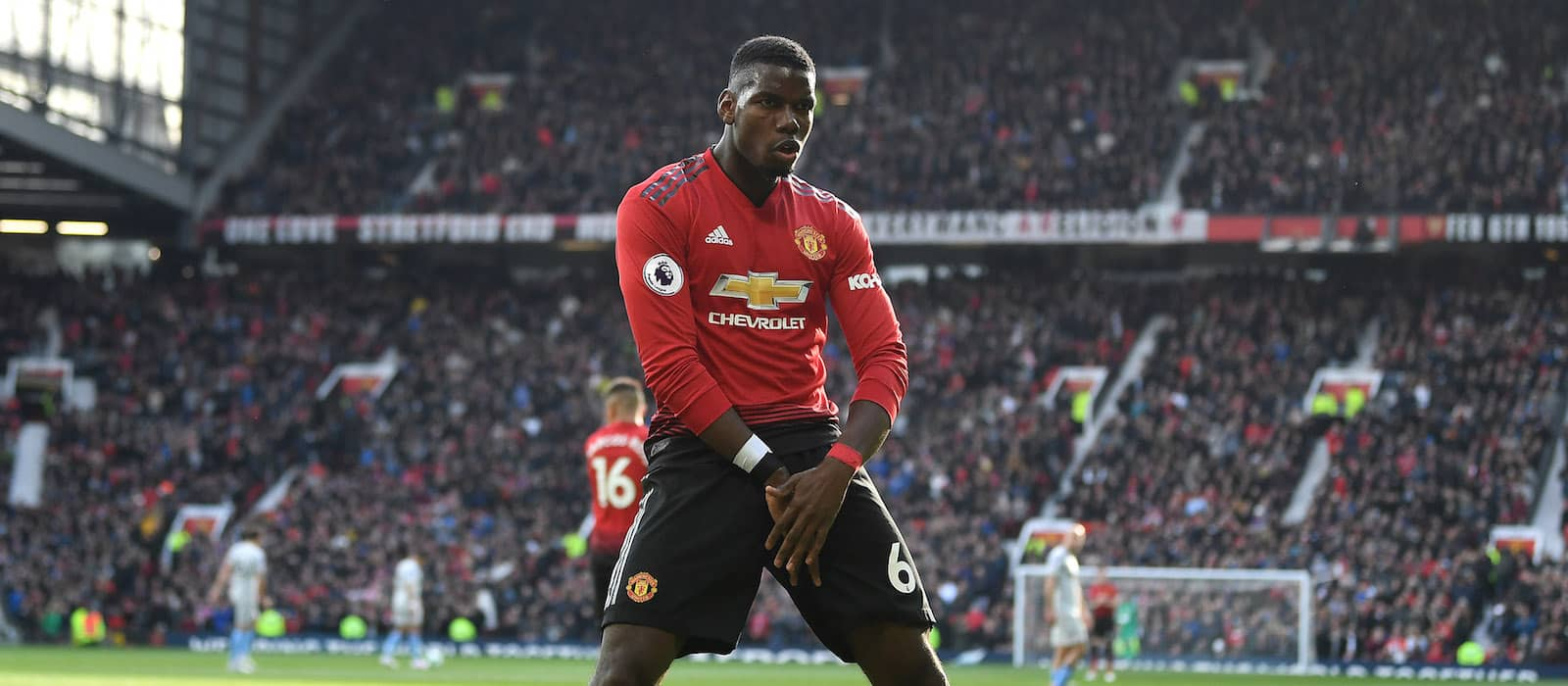 Pogba scored a brace for United this past weekend. (Agency Photo)