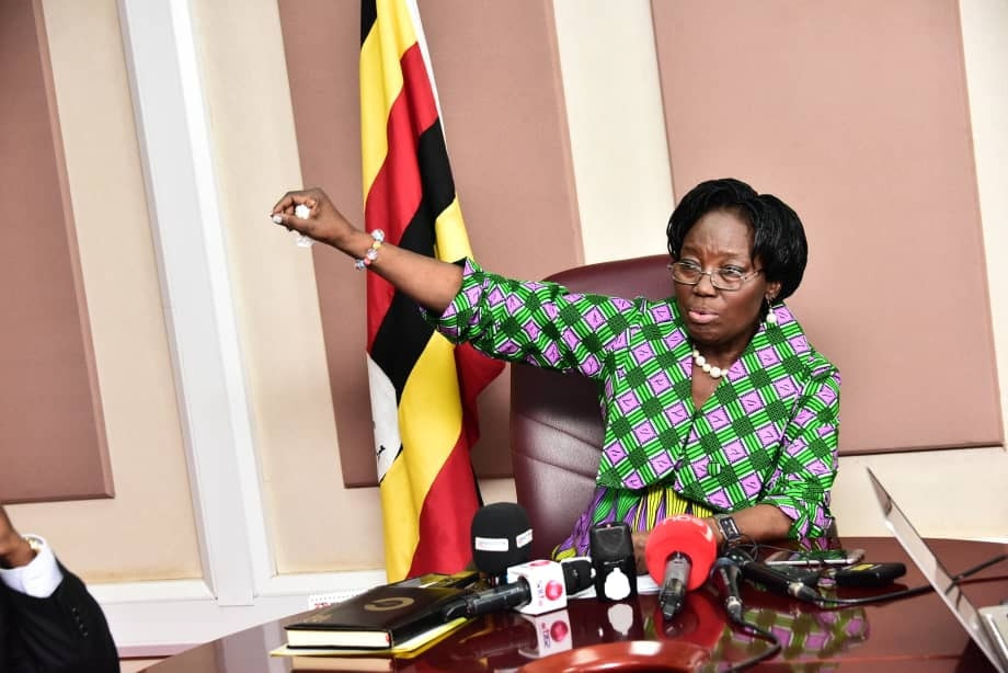 Speaker of Parliament, Rt. Hon. Rebecca Kadaga stresses a point recently (PHOTO by Peter Ssenti)