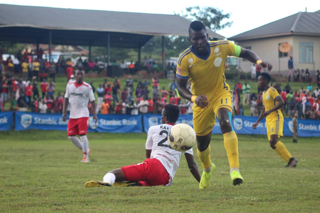 Ssenkatuka (right) scored Bright Stars' equalizer on Sunday. (Photo by Bright Stars Media)