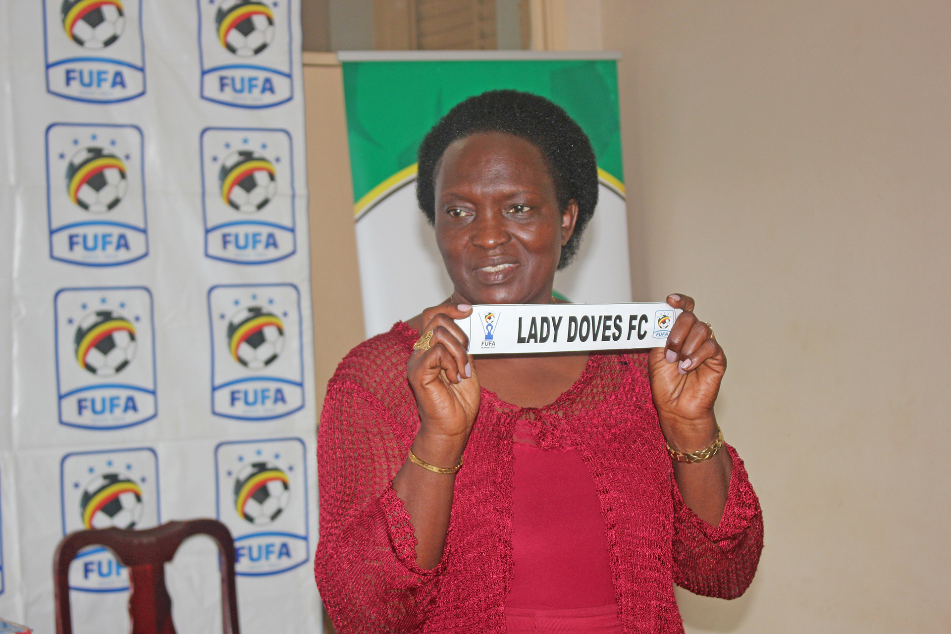 Owek. Florence Bagunywa Nkalubo draws Lady Doves on Wednesday (FUFA Photo)
