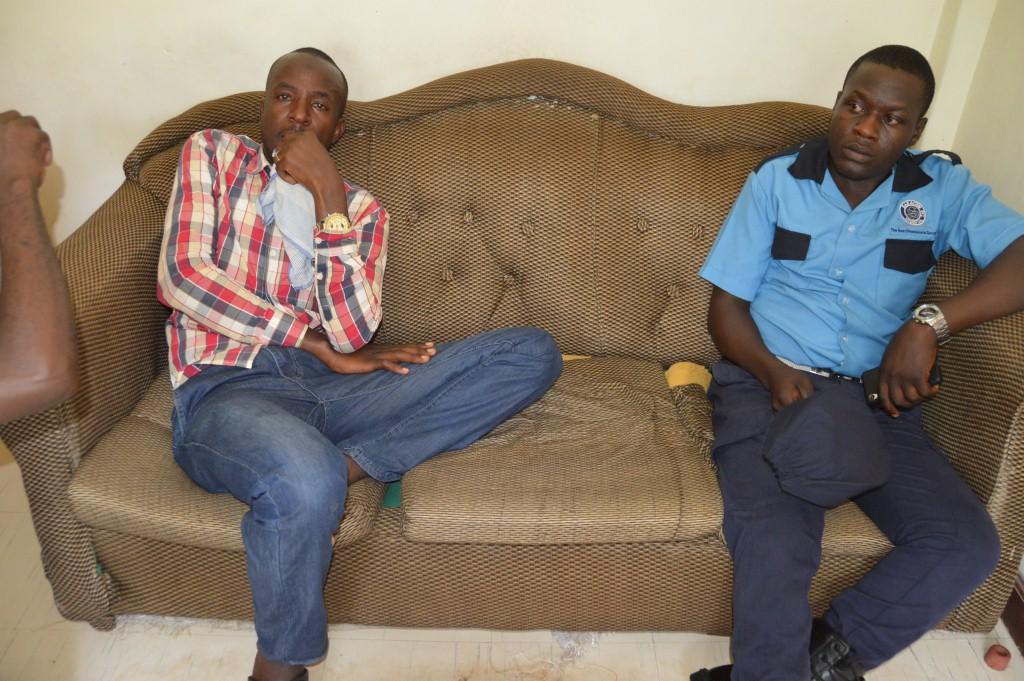 Kakooza and Munanura at Mbarara police station (2)