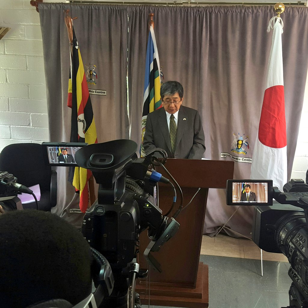H.E. Kazuaki Kameda, Ambassador of Japan to Uganda assures citizens that their Government will continue to help refugees hosting districts in Uganda (PHOTO/File)