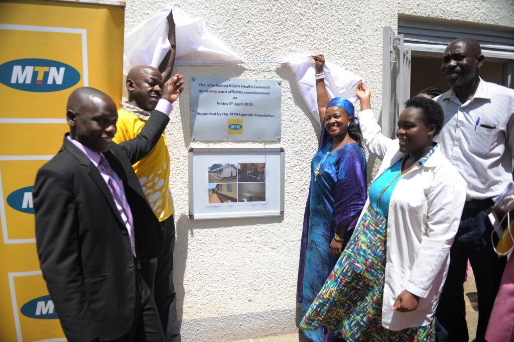 (L-R) Dr. Richard Mugahi, Fort Portal District Health Officer, Michael Sekadde HR General Manager MTN Uganda, Kabarole Woman MP, Hon. Sylvia Rwabwogo & Nurse Tracy Priscilla