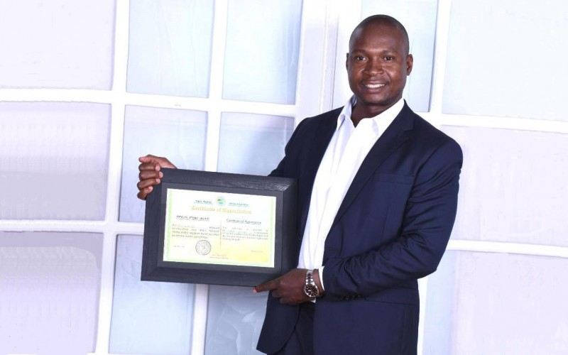 Dr. Robert Fungo, Lecturer-Department of Food Technology and Human Nutrition, CAES, Makerere University, Kampala Uganda. Dr. Fungo was recognized by the Federal Government of Ethiopia on 26th March 2019 for his contribution to developing the National Nutrition Sensitive Agriculture Training Manual.