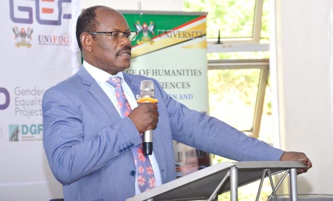 Prof. Barnabas Nawangwe outlined the strides made by Makerere University in Gender Mainstreaming and Gender Equality action. (PHOTO/MAKERERE)